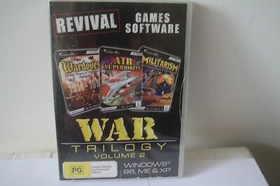 Computer Gaming Software - 3 GAME PACK - WAR TRILOGY - PC CD-ROM - BRAND NEW