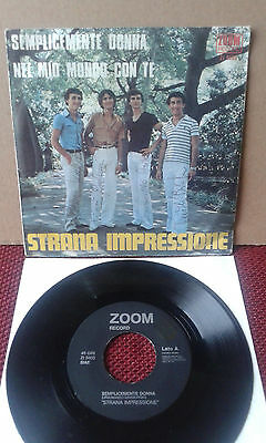 """OBSCURE ITALIAN PROG POP 7"""" STRANA IMPRESSIONE Zoom ZI 5603 SIGNED BY THE BAND!!"""