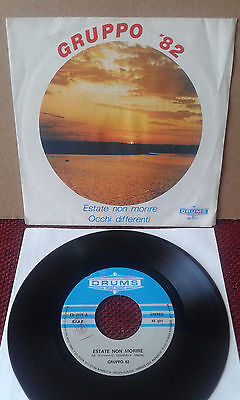 """OBSCURE ITALIAN PROG POP 7"""" GRUPPO 82 Drums ED 2171 VG++ NO RESERVE!!!!!!!!!!!!!"""