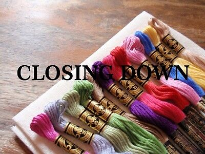 3 new skeins of DMC embroidery thread - you choose the colours