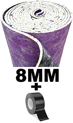 8mm Thick Luxury Carpet Underlay PU Foam With FREE Carpet Joining Tape!