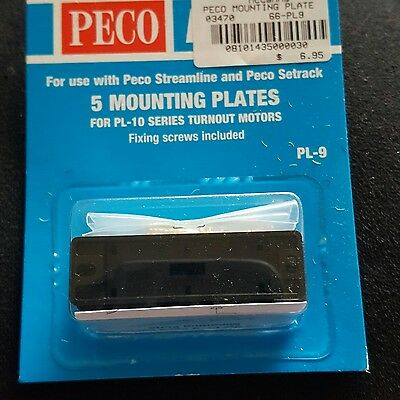 model train point motor mounting plates