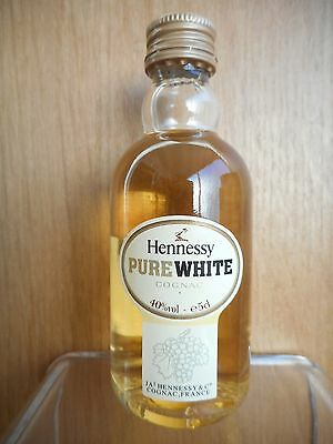 Rare Old Miniature Cognac Hennessy Pure White, 40% Vol., 5 Cl.