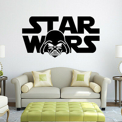 New 3D Star Wars Themed Removable PVC Wall Decals Stickers Art Home Decoration F