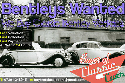 We Want To Buy Your Classic Bentley - Continental, GT, GTC, T1, Mark IV