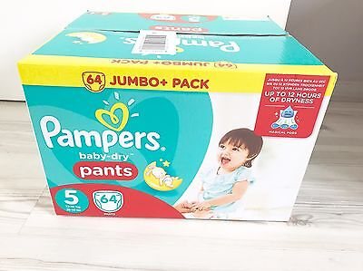 Couches Pampers Pants Taille 5 (12-18kg)    64 Couches