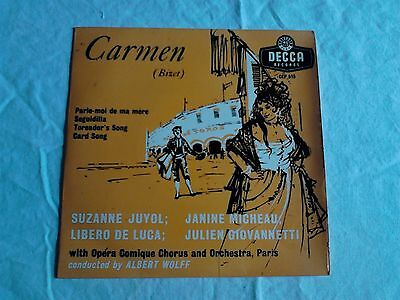 "7"" Vinyl Single. Excerpts from Bizet's Carmen."