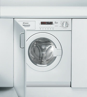 Candy CDB854DN Integrated Washer Dryer 8kg & 5kg wash/dry, LED, 1400spin