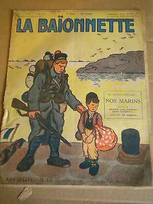 La Baionnette WW1 French Satire No47 25 MAY 1916 Our Navy Nos Marins