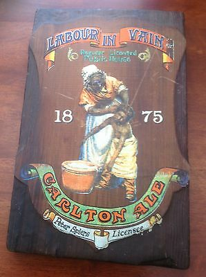 OLD PUB SIGN COLLECTABLE Vintage 1875 Rare Find Labour In Vein