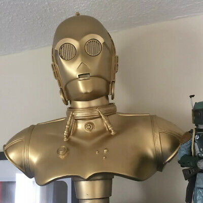 Life Size Star Wars Movie bust C-3PO Droid Gold Prop