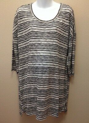Old Navy XL Sweater Maternity Black Striped Jersey Nwt