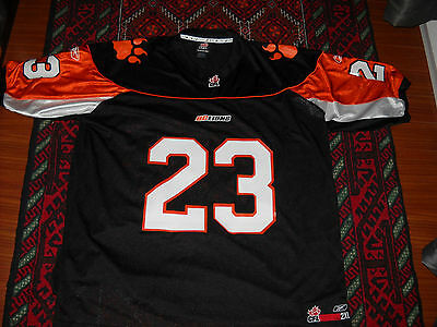Bc Lions Cfl Football Jersey Men's 2Xl Xxl Mark Washington Reebok B.c. Rare