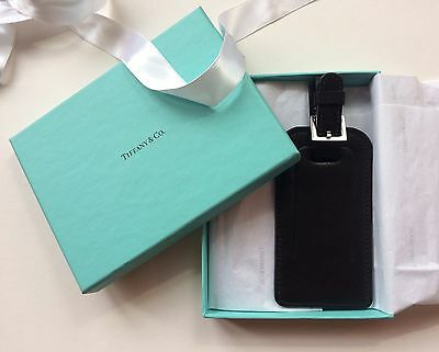New Tiffany & co Luggage Tag In Black Leather