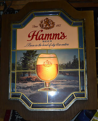 Hamms Light Up Beer Sign with Cup of Beer