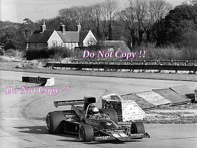 Ronnie Peterson JPS Lotus 76 F1 Testing Goodwood 1974 Photograph
