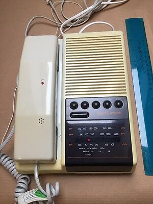 Vintage Phone Clock Radio Alarm Mains power with battery back up all working