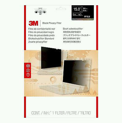 3M Black Privacy Filter for Laptop/Desktops 15in Standard 4:3 PF15.0