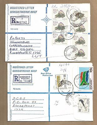 SA: 4 Registered Covers + 19 diff used 'Proteas'.(Ref 592)