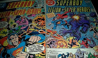 Superboy Legion of Super-Heroes lot #242 #243  good condition