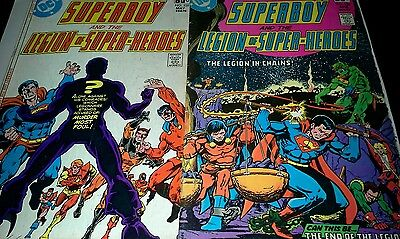 Superboy Legion of Super-Heroes lot #238 #239  good condition