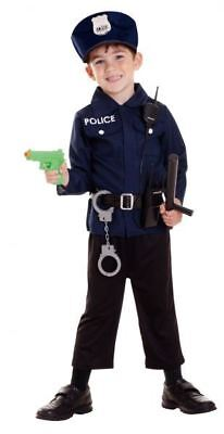 Police Officer Uniform Costume and Accessories 3-5yrs