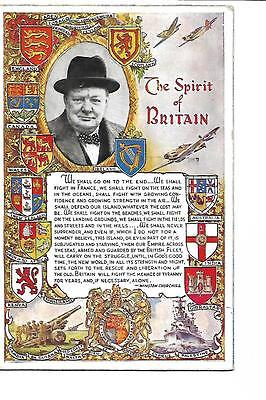 Winston Churchill. The Spirit of Britain. Posted in 1943.