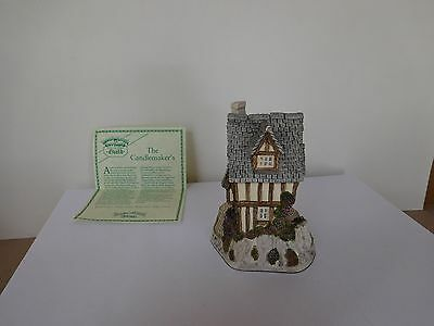 """David Winter Collection """"Candlemaker's Cottage"""" 1991 with COA"""