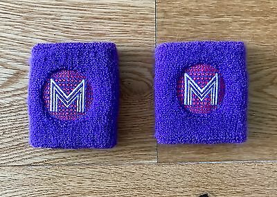 Madonna Confessions Tour 2006 Sweatbands X 2 / Purple / Rare / Hung Up / Sorry