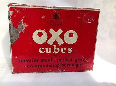 Vintage Oxo 24 x 6 Cube Tin Rare Royal Appt to the Late King George VI