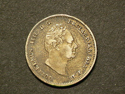Great Britain Guiana 1836, 4 Four Pence, Groat,  George IIII, Silver Coin #5736