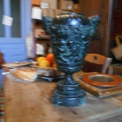 Grand Vase Ancien Nap 3 Tete De Faune Diable