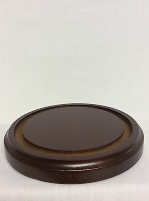 """Clock, Doll or Display Glass Dome 8""""Walnut Base #343B - New  (Base ONLY NO Dome)"""