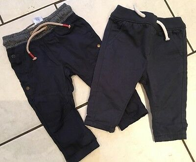 Baby Boys X 2 Trousers  Age 3-6 Months -