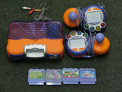 V-Tech Vsmile Lerncomputer - orange + 2 Controller + 4 Spiele !