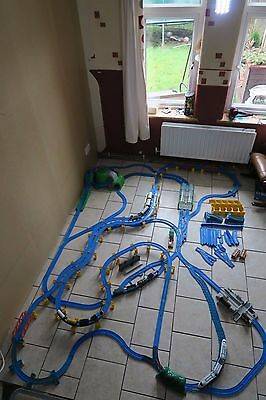 Huge Bundle of Tomy Thomas the Tank Engine Blue Train Track Trackmaster