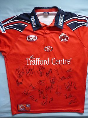 Salford City Reds Signed Shirt x23 - Rugby, 2017 Squad, Red Devils, Mossop