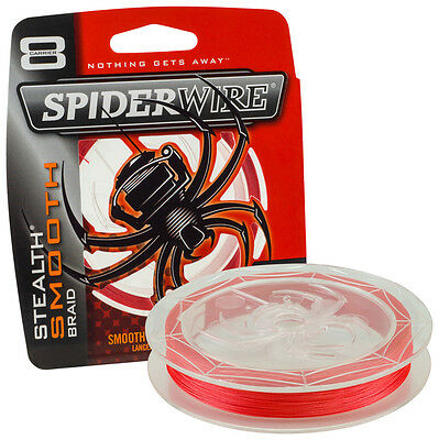 Spiderwire Stealth Smooth 8 RED Braid in 150m & 300m Spools