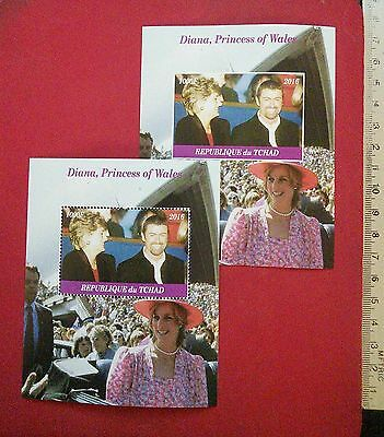 Princess of Wales Diana with Pop Star George Michael R.I.P 2016 CHAD stamps GIFT