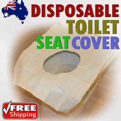 5/10/20/30/40pcs Disposable Flushable Paper Toilet Seat Covers 4 Travel Camping