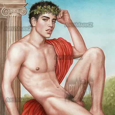 PAUSANIAS OF ATHENS - Fine Art Ltd. Ed. PRINT- GAY INTEREST MALE NUDE - Realism