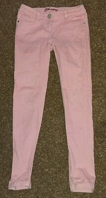 Girls Next pink skinny jeans age 11 years
