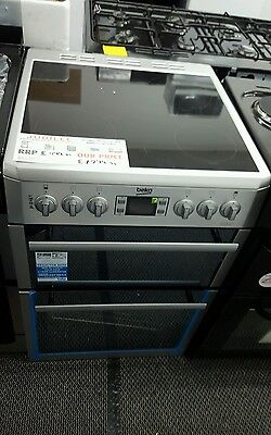 BEKO BDVC674MS 60 cm Electric Ceramic Double-oven Cooker With Grill Silver