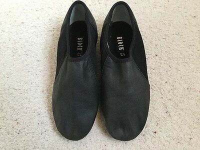 Bloch, girls black leather dance shoes, size13