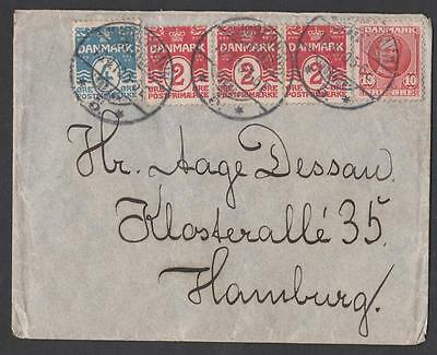 DANEMARK OLD LETTER KJOBENHAVN destination HAMBURG YEAR   1905