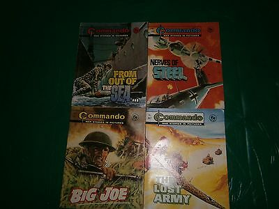 4XVINTAGE COMMANDO WAR COMIC/BOOKS ALL 6d 1970S       (8)
