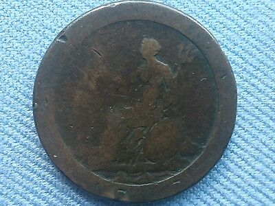 Old Vintage Great Britain(UK),1797 George lll.(Cartwheel Penny).
