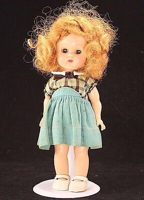 Vogue Ginny Doll 1955 Walker Doll, Molded Lash, Tagged Dress, Red Hair