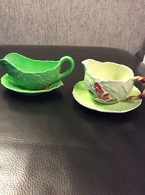2 Carlton Ware Small Jugs With Matching Dishes
