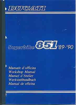 Manuale d'officina DUCATI Superbike 851 '89 - '90